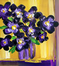 "PANSIES - Acrilyc on canvas (12""x12"") SOLD"