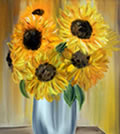"SUNFLOWERS - Oil on canvas (12""x16"") SOLD"